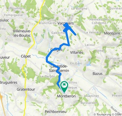 De 14 Rue du Bois Grand, Montberon à 2 Impasse Saint-Paul, Montberon