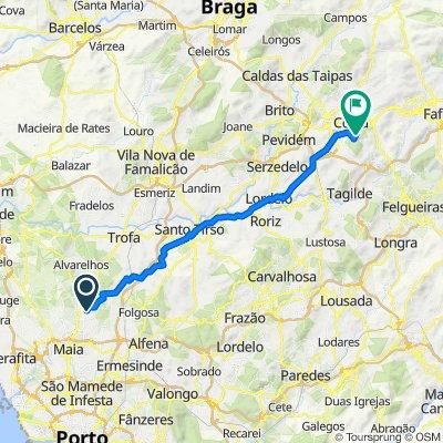 De Via Padre Arnaldo Duarte 122, Castelo da Maia a Varanda de Pilatos, Guimarães