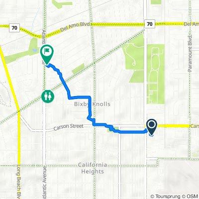2140 E Carson St, Long Beach to 4540 Atlantic Ave, Long Beach