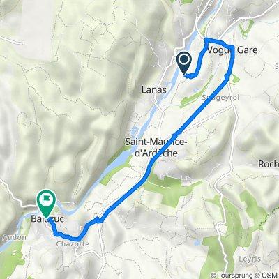 De Le Serre d'Auzon, Saint-Maurice-d'Ardèche à Balazuc