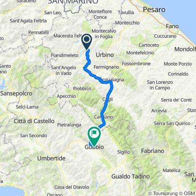 Villa Marsi naar Gubbio