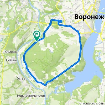 От Чуйская улица 9, Воронеж до Чуйская улица 9, Тенистый (воронеж)