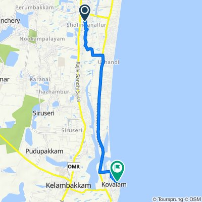 Route from Sarangabani Street, Chennai