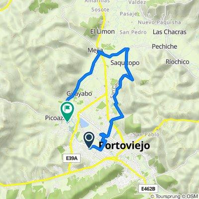 De Tercera Transversal 55, Portoviejo a Via Milagro Picoaza, Portoviejo