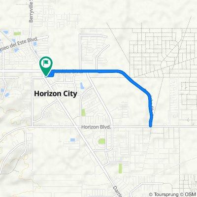 13813 Hollywood Dr, Horizon City to 13816 Hollywood Dr, Horizon City