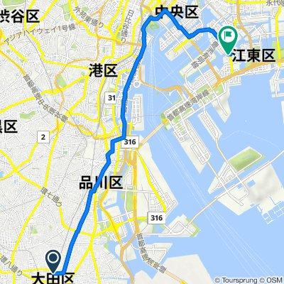 12, Kamata 5-Chōme, Ota to 2, Shinonome 1-Chōme, Koto