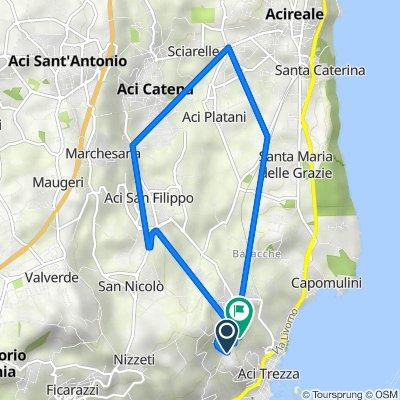 Da Via Ulisse 2, Aci Catena a Via Vampolieri 37