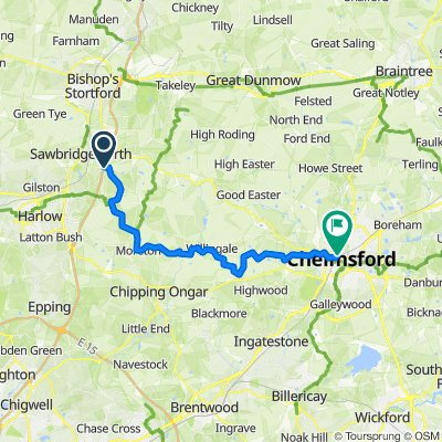 Sheering to Chelmsford