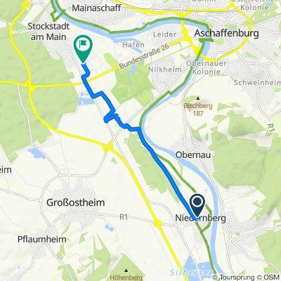 Ringstraße 39, Niedernberg nach Am Sandnickel 3, Stockstadt am Main