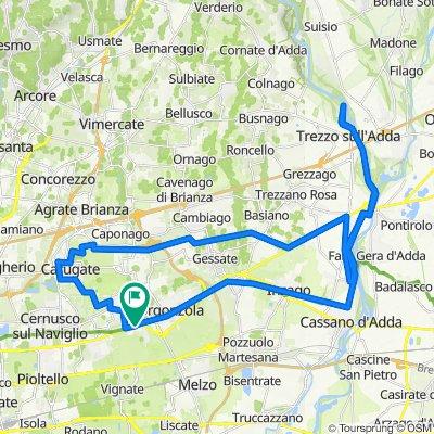 Da Via Frazione Riva 24, Gorgonzola a Via Frazione Riva 9–34, Gorgonzola