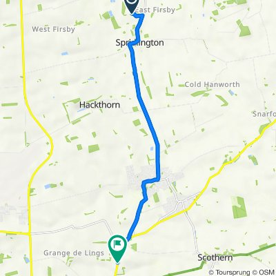 Route to Welton Road, Nettleham, Lincoln