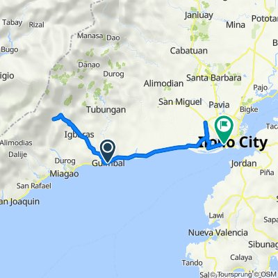 Route from Iloilo-Antique Road, Guimbal