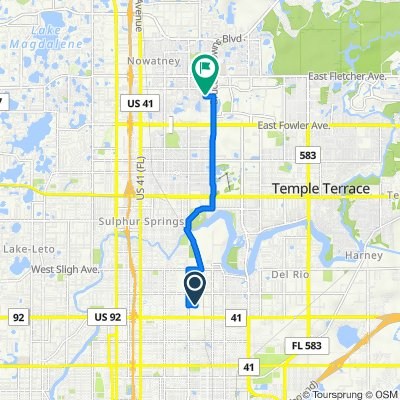 East Henry Avenue 2400, Tampa to North 30th Street 13000, Tampa