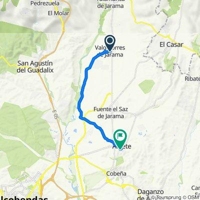 De Calle del General Mola 1, Valdetorres de Jarama a Calle de Valserrano 3, Algete