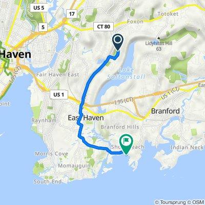 45 Van Horn Dr, East Haven to 17 Killams Pt, Branford