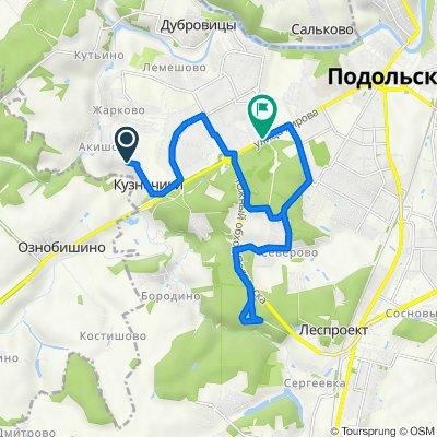 От Кузнечики до улица Кирова 76 корпус 2, Подольск
