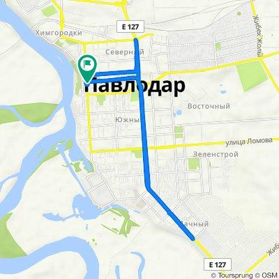 От улица Кривенко, Павлодар до улица Кривенко, Павлодар