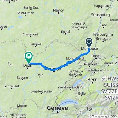 De 10 Rue de Verdun, Wittenheim à 1 Route de Langres, Norges-la-Ville