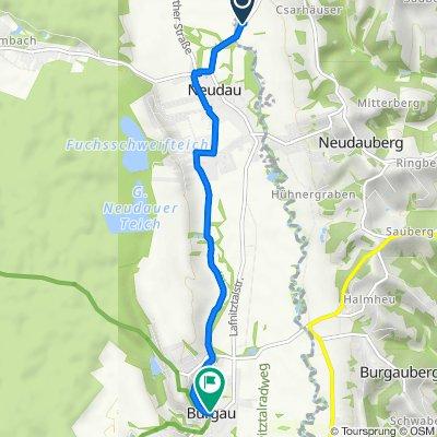 Route nach Hauptplatz, Burgau