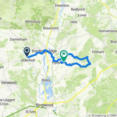 Sandleheath Road, Alderholt, Fordingbridge to N Ogdens, Ogdens, Fordingbridge