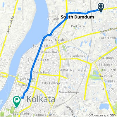 Municipality, Kolkata to James Hickey Sarani, Kolkata
