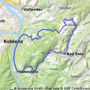 Neuhäusel-Ems-Lahnstein-Mühlental-Neuhäusel
