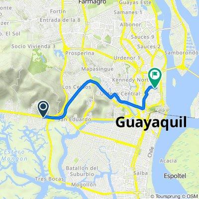 De *Av. Principal Y Calle Primera, Guayaquil a Captain Rodrigo A. Rojas H. 13, Guayaquil