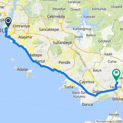 İstanbul-Ballıkayalar Kamp Alanı 62 km
