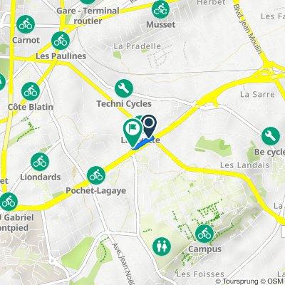 De 39 Boulevard Paul Pochet Lagaye, Clermont-Ferrand à Boulevard Paul Pochet Lagaye, Clermont-Ferrand