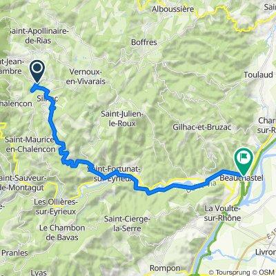 De 9 Chemin de Besses, Silhac à 11 Rue Basse Ville, Beauchastel