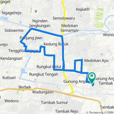 Jalan Wiguna Selatan Indah I 12, Kecamatan Gunung Anyar to Jalan Wiguna Selatan Indah I 12, Kecamatan Gunung Anyar