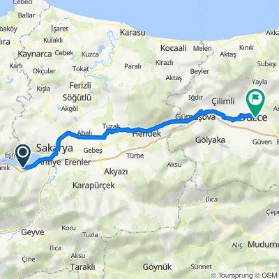 Sakarya-Düzce 100 km