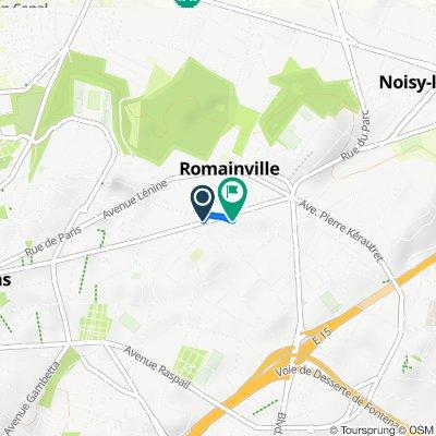 De 58 Avenue de Verdun, Romainville à 109 Avenue du Docteur David Rosenfeld, Romainville