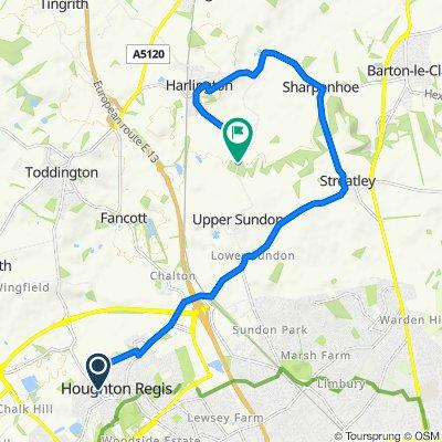 16 Vicarage Road, Dunstable to Harlington Road, Harlington, Dunstable