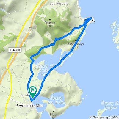 De 3bis Route de Bages, Peyriac-de-Mer à 3bis Route de Bages, Peyriac-de-Mer