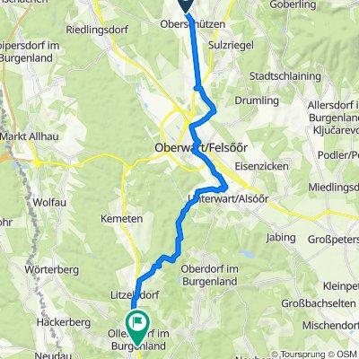 Willersdorfer Straße 45, Oberschützen nach Hauptstraße 24/1, Ollersdorf im Burgenland