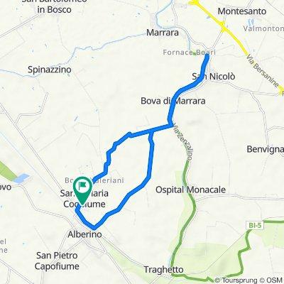 Da Via Cesare Terranova 91, Santa Maria Codifiume a Via Cesare Terranova 91, Santa Maria Codifiume