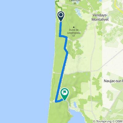 Itinéraire à partir de Avenue de l'Europe, Vendays-Montalivet