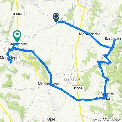 De 450 Route de Beaumont, Montvendre à 1 Rue du 8 Mai 1945, Beaumont-lès-Valence