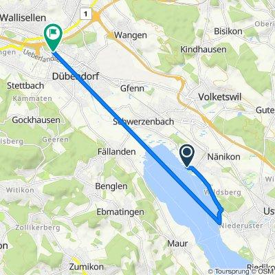 Breitistrasse 1, Greifensee to Seidenstrasse 28, Dübendorf