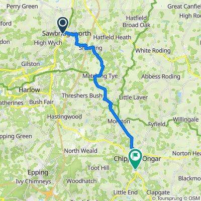 7 Roseacres, Sawbridgeworth to 1 Coopers Hill, Ongar
