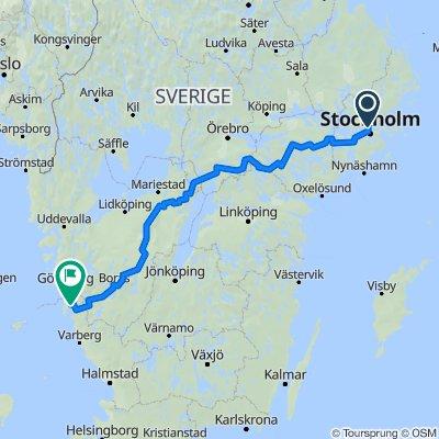 Uppsalavägen, Solna to Storgatan 20B, Kungsbacka