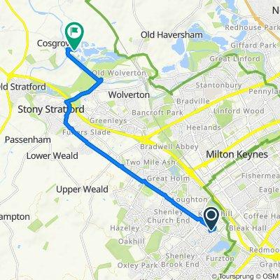 Route from Putman House, Silicon Ct, Milton Keynes
