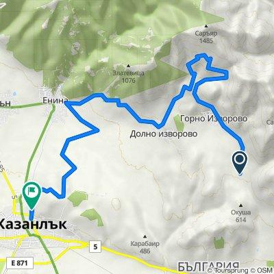 "Route to ulitsa ""General Radetski"" 80, Kazanluk"