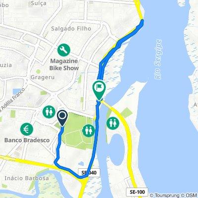 De Avenida Oviêdo Teixeira, 230, Aracaju a SE-100, Aracaju
