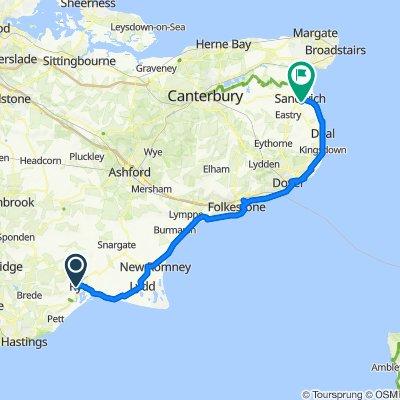 Rye to Sandwich  Coast Route