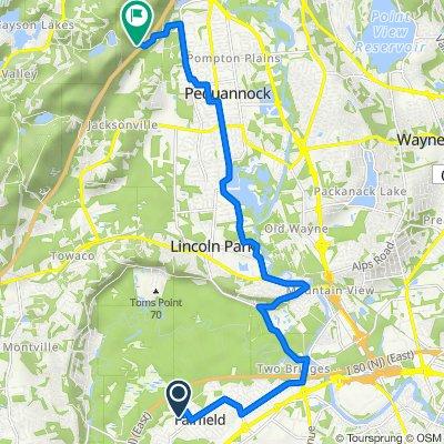 15 Midvale Ave, Fairfield to 213–215 Mountain Ave, Kinnelon