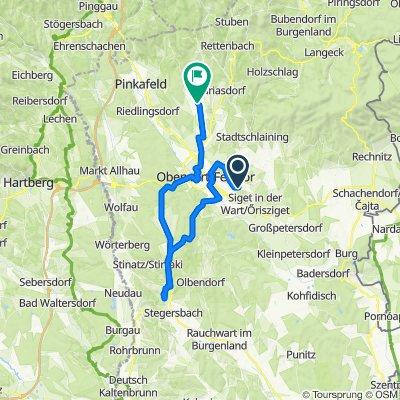 Granitz 2, Eisenzicken nach Willersdorfer Straße 39, Oberschützen