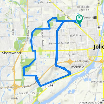 1313 Catherine St, Joliet to 1313 Catherine St, Joliet
