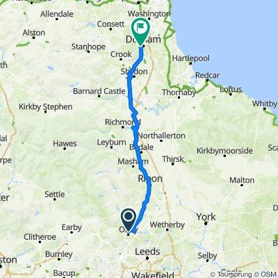 Day 7 Lejog Otley to Durham
